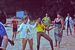 Playing limbo on the beach in Jamaica, 1971   by rickpilot_2000