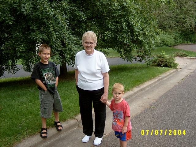 grandma with kids