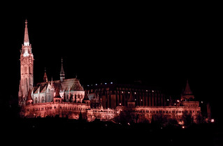 Matthias Church and Fisherman's Bastion by night