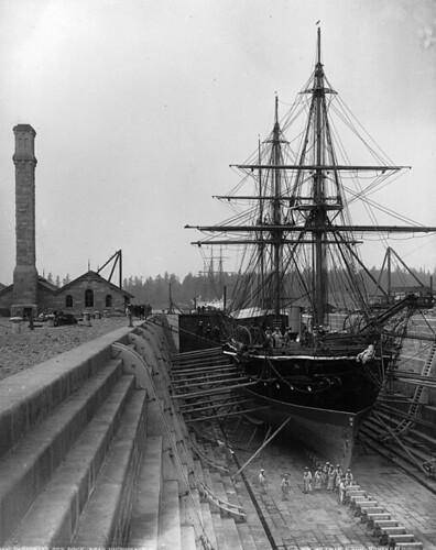 Esquimault Dry Dock near Victoria, BC, 1887