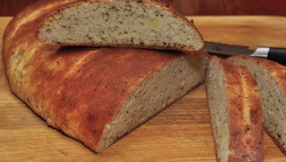 Mmm...whole clove garlic bread   by jeffreyw