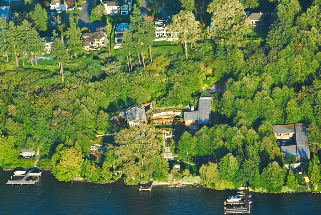 The View Of Bill Gates House From An Airplane Oksana Manning Flickr