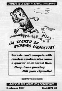 Woody ad: Scared of Cigarettes