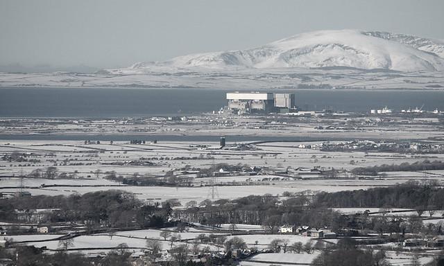 Heysham Power Station from Nicky Nook, Scorton, Lancashire, UK