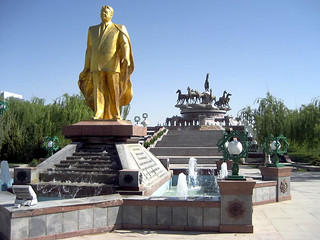 Golden Statue of Saparmurat Niyazov | by D-Stanley