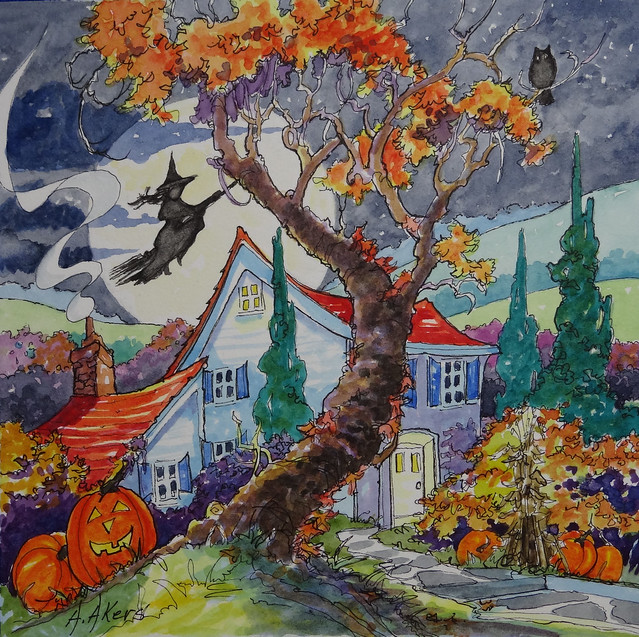 Home Sweet Halloween Home from Storybook Cottage series by Alida Akers