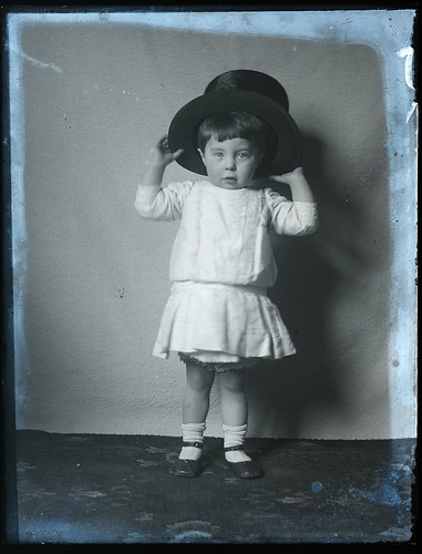 Lovely portrait of child in top hat, early 1900s | by whatsthatpicture