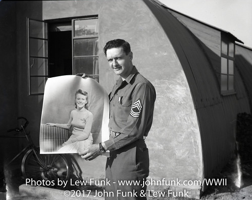 SFC Lewis Funk with picture of wife Dorris | by John Funk from Golden Colorado