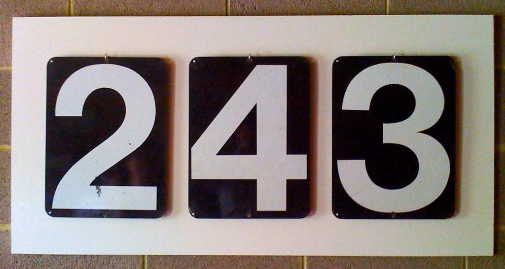 Vintage Scoreboard Numbers Assemblage