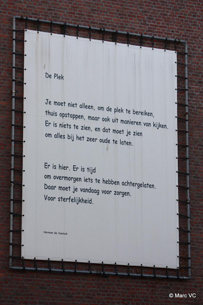 De Plek Herman De Coninck Je Moet Niet Alleen Om De Ple