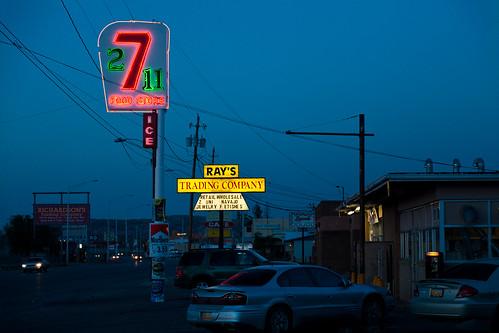 newmexico route66 neon gallup seven2eleven
