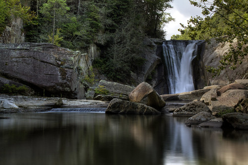 longexposure summer reflection pool waterfall nc rocks warm northcarolina hdr elkfalls ncmountains ncwaterfalls averycounty waterfallphotography davidhopkinsphotography