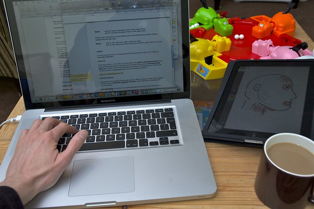 Day 522: Working from home with hungry, hungry hippos