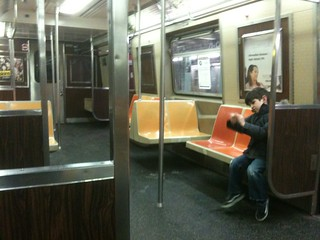 23/365 - the subway car to himself | by Basil Kolani