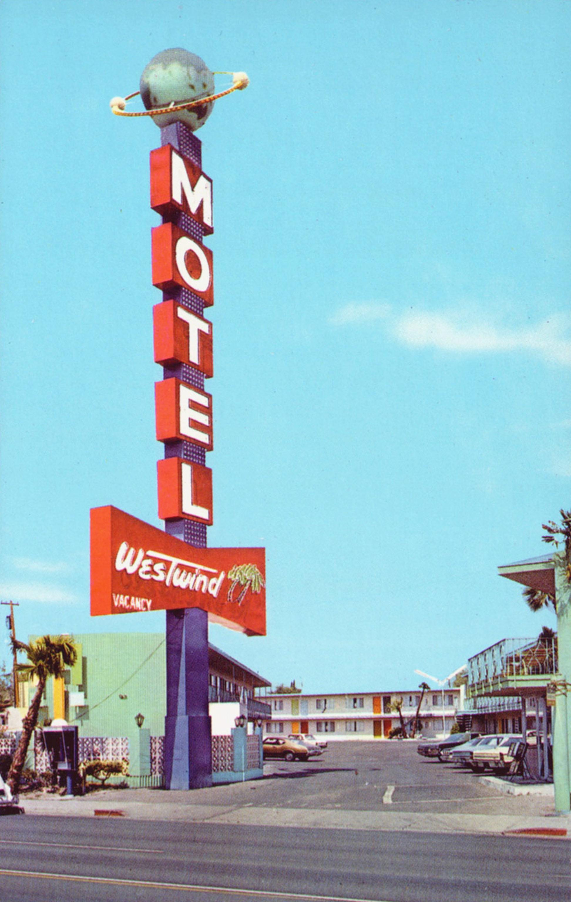 Westwind Motel - 1150 Las Vegas Boulevard South, Las Vegas, Nevada U.S.A. - 1960's