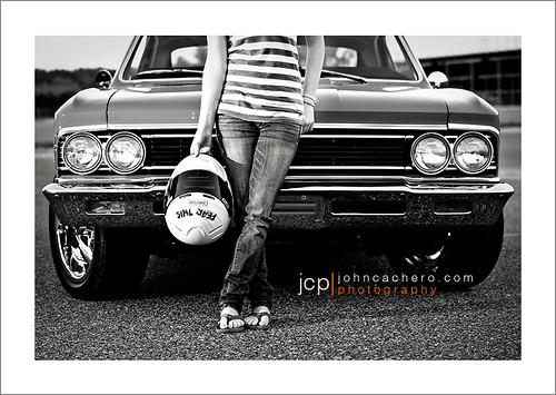 portrait chevrolet senior girl female virginia helmet 1966 chevelle highschool teen teenager chesapeake jcp supersport hamptonroads 2011 racinghelmet hickoryhighschool johncacherophotography
