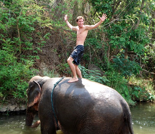 Riding Elephant in Pai - Greg Attempts to Stand on Konsai - v5 | by FollowOurFootsteps