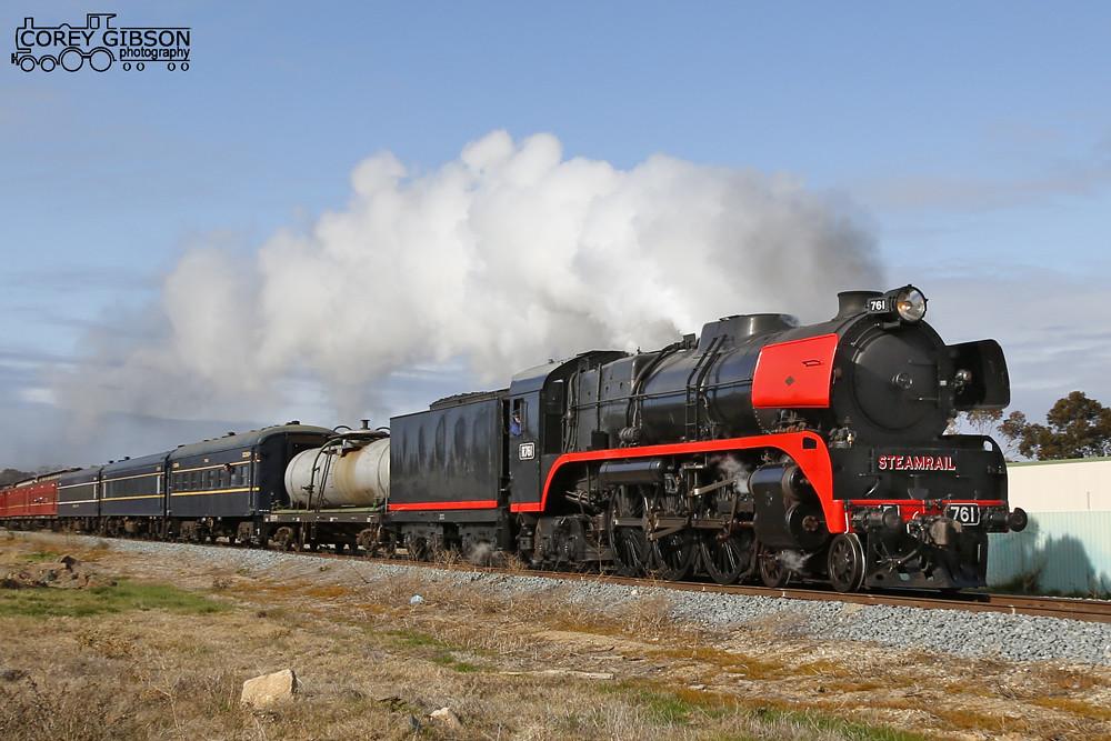 Steamrail R761 trip to Echuca by Corey Gibson