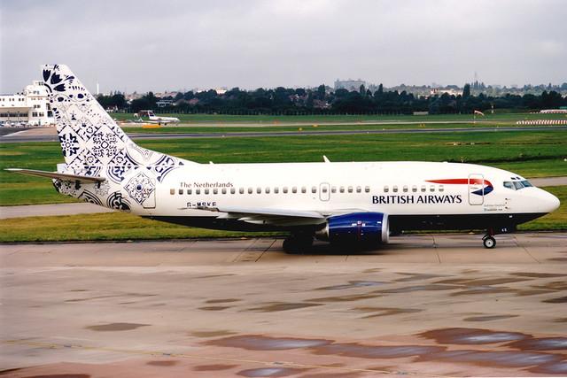 British Airways (Maersk Air) | Boeing 737-500 | G-MSKE | Delftblue Daybreak | Birmingham International