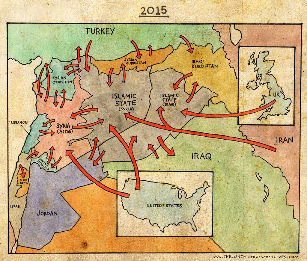 Syria / Iraq Map | In case you were confused by the current ...
