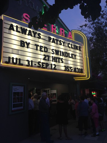 PIC: Marquee at @s_m_playhouse is ready for Opening Night for #AlwaysPatsyCline #MyDayInLA | by @jozjozjoz
