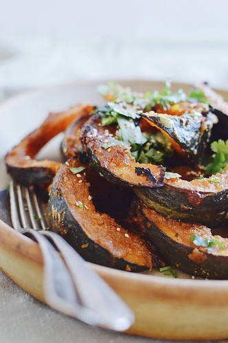 miso kabocha with cilantro and lime | by Hapaway