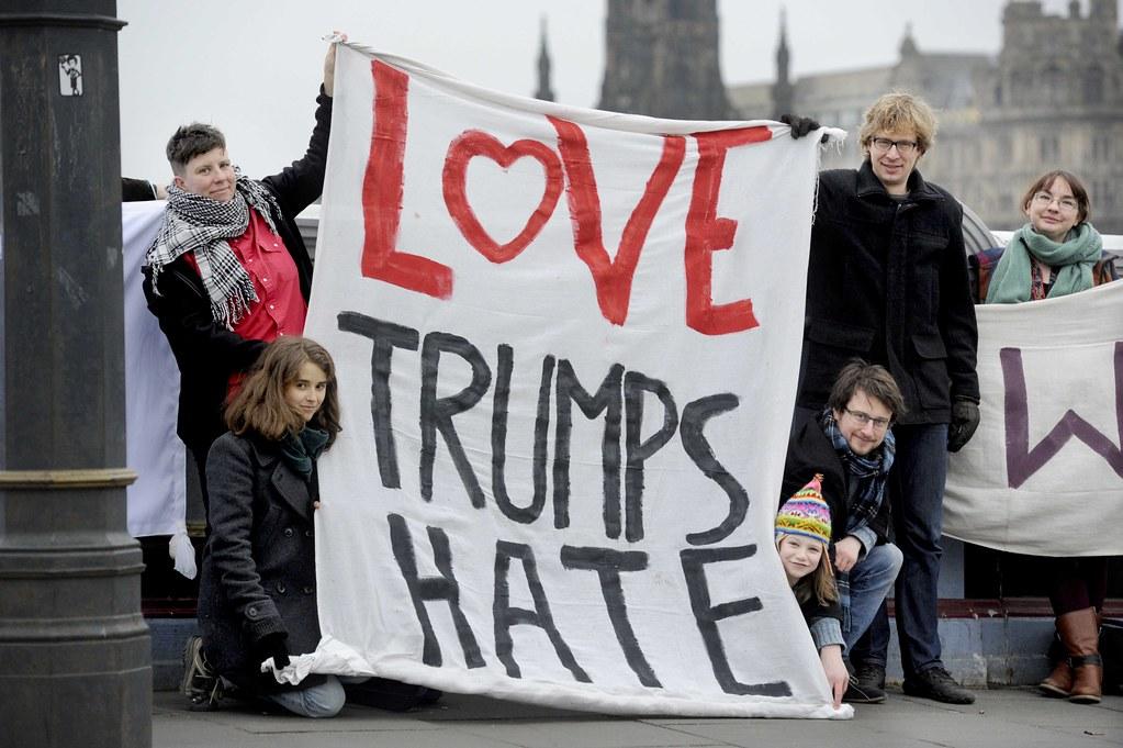 Bridges Not Walls Banners Edinburgh
