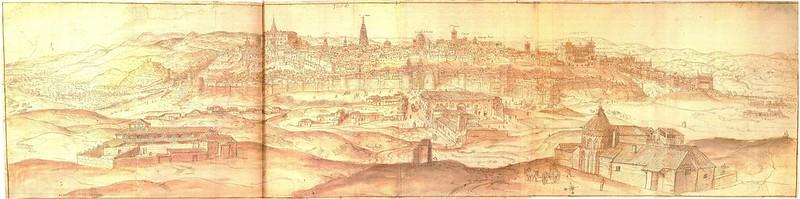 Grabado de Toledo en 1563 por Anton Van Wyngaerde