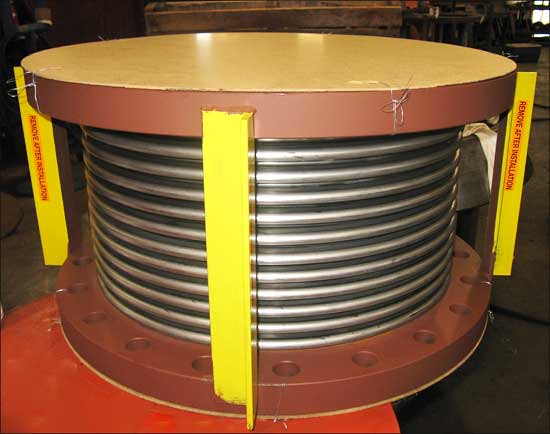 Single Flanged Expansion Joint for an Exhaust Duct Application in Orlando, Florida