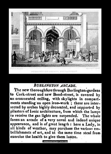 April 1st 1819 - Burlington Arcade, London | by Bradford Timeline