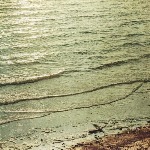 sunset lake reflection water canon vintage square texas glare tyler shore lakeshore ripples aged textured lakepalestine texturesquared t1i