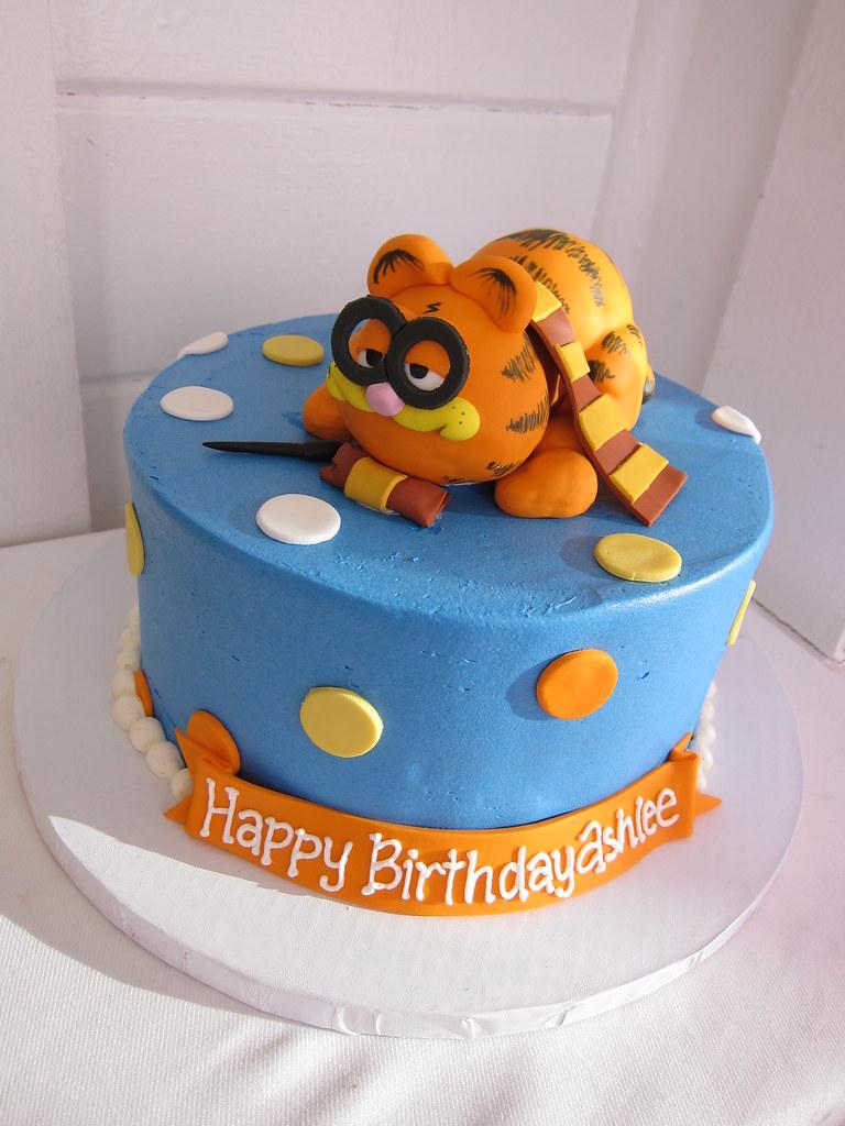 Cool Garfield Harry Potter Birthday Cake Polkadots Olga Flickr Funny Birthday Cards Online Elaedamsfinfo