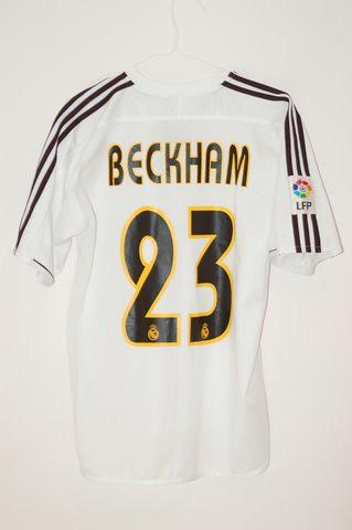 2003 2004 Real Madrid David Beckham Home Jersey Aj Flickr