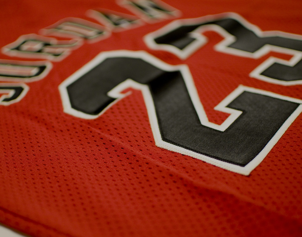 the best attitude 712f5 32a57 Michael Jordan game used material jersey | jfactor | Flickr