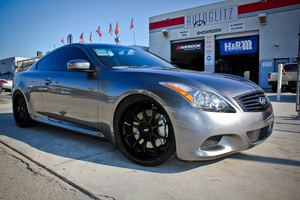 2010 Infiniti G37 Advan Rsd Matt Black Lowered With Bc Racing Coilovers A Photo On Flickriver