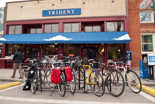 Bikes at the Trident Cafe