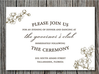 Cherry Blossom Wedding Invitation Suite   by blush printables