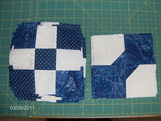 Nine patch and bow ties   by Sandy N.-