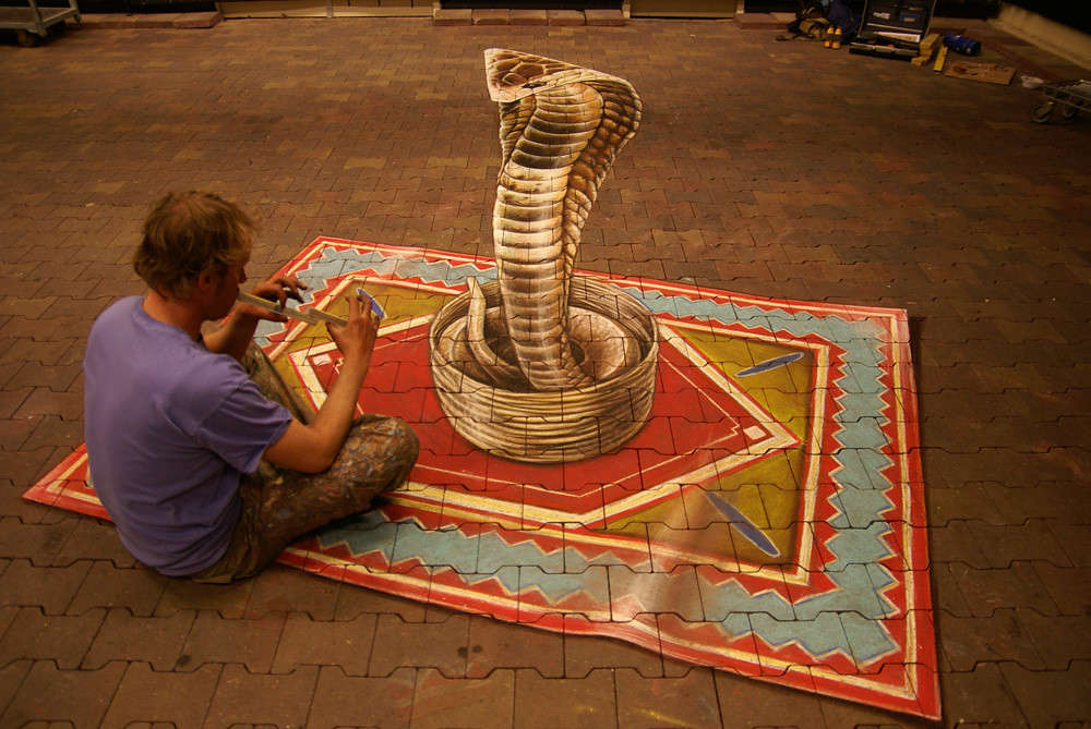 3dstreetpainting | For the upcoming snake show in the Intrat… | Flickr