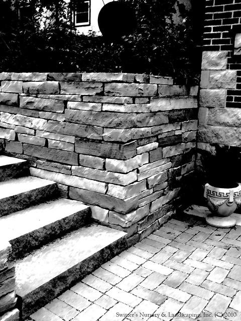 the ART of Landscape Design - Stone Work in Black & White