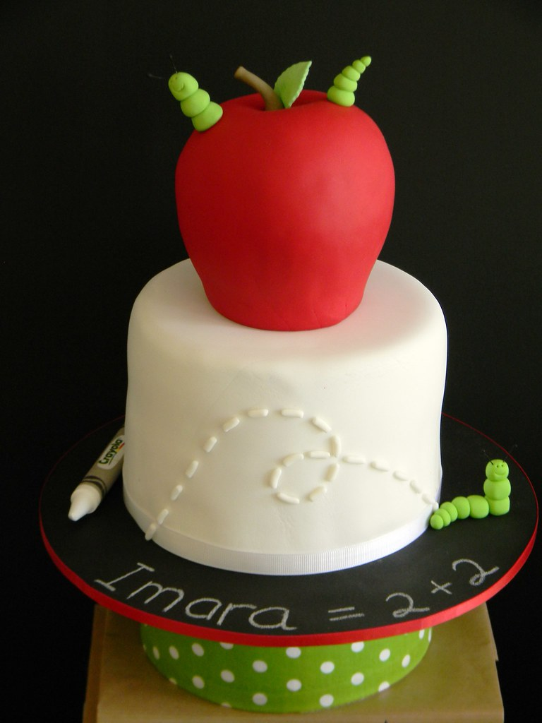 Prime Apple Worm Birthday Cake Leoni Jena Flickr Funny Birthday Cards Online Fluifree Goldxyz