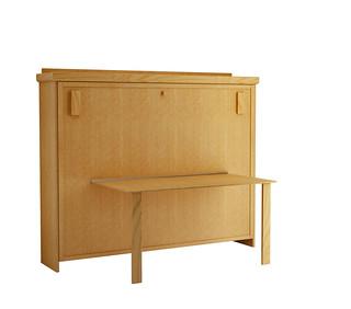 Elsa-horizontal-murphy-bed-Oak-Honey | by wallbedfactory-murphybeds