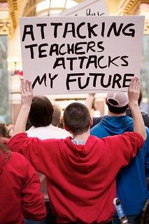 Attacking Teachers Attacks My Future | by BlueRobot