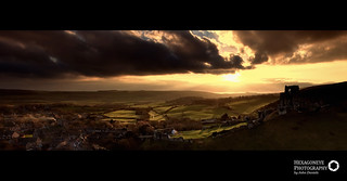 50/365 Corfe Castle at Sunset | by Hexagoneye Photography