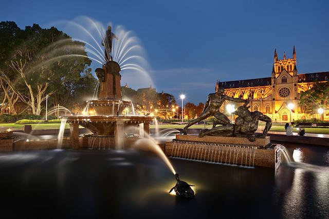 Next: Archibald Fountain at Twilight