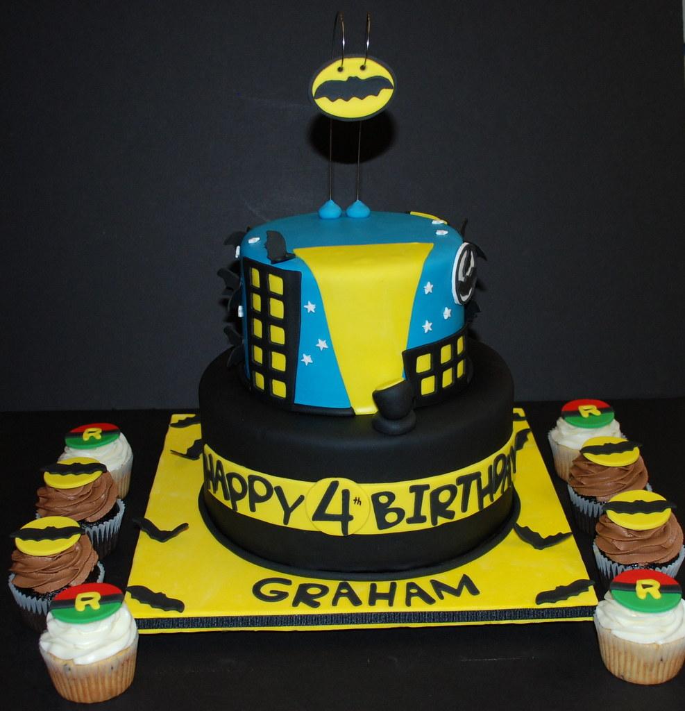 Pleasing Batman Robin Theme Birthday Cake A Photo On Flickriver Personalised Birthday Cards Vishlily Jamesorg