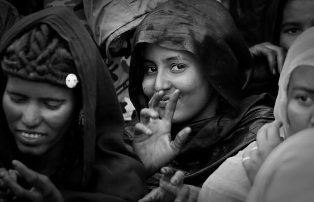 Tuareg girl at Essakane, mali