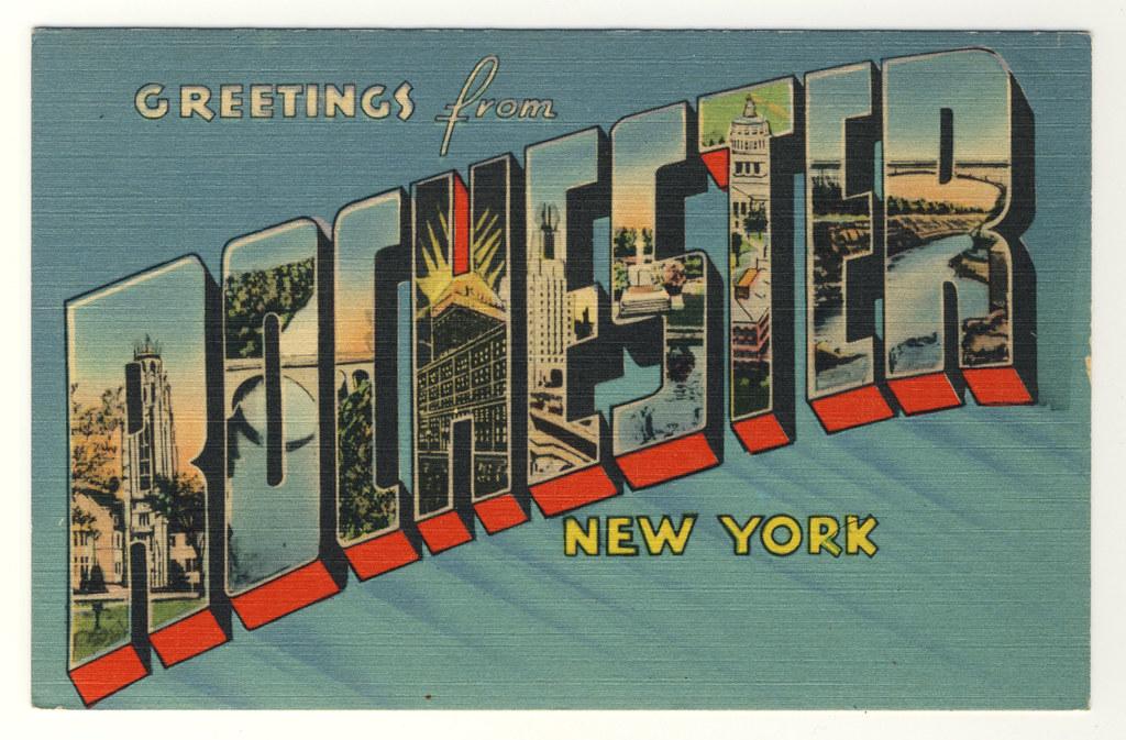 Rochester NY, Vintage Postcards
