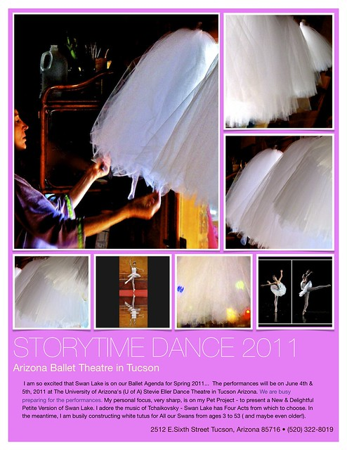 Storytime Dance 2011  -Tutus for Swan Lake - Small Poster