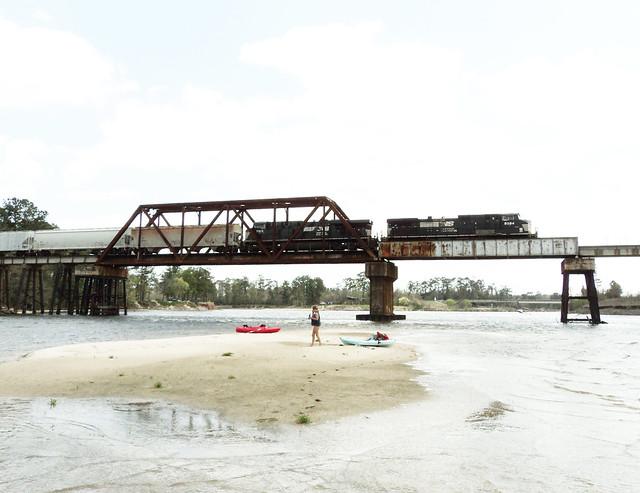 Through Truss Railroad Bridge, San Jacinto River, Crosby, Texas 0312111250